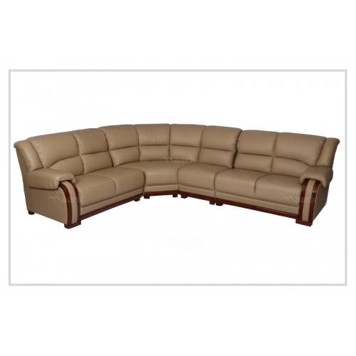 Demos Corner Leatherette Sofa