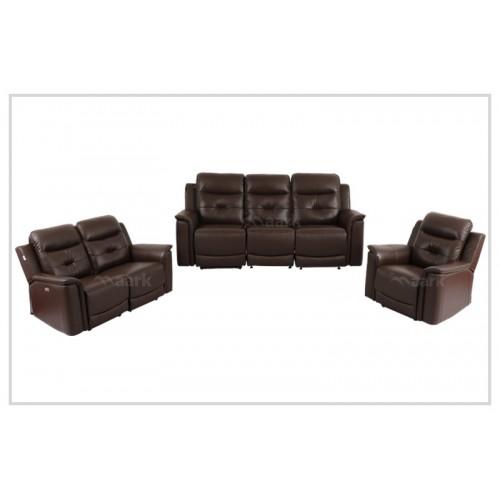 Denzel Leather Recliner Sofa 3+2+1