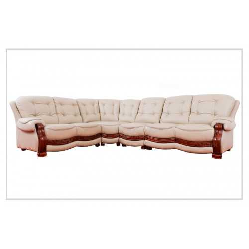 Modern Domingo Leatherette Corner Sofa