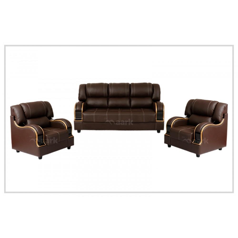 Tuxedo Leatherette Sofa 3+1+1