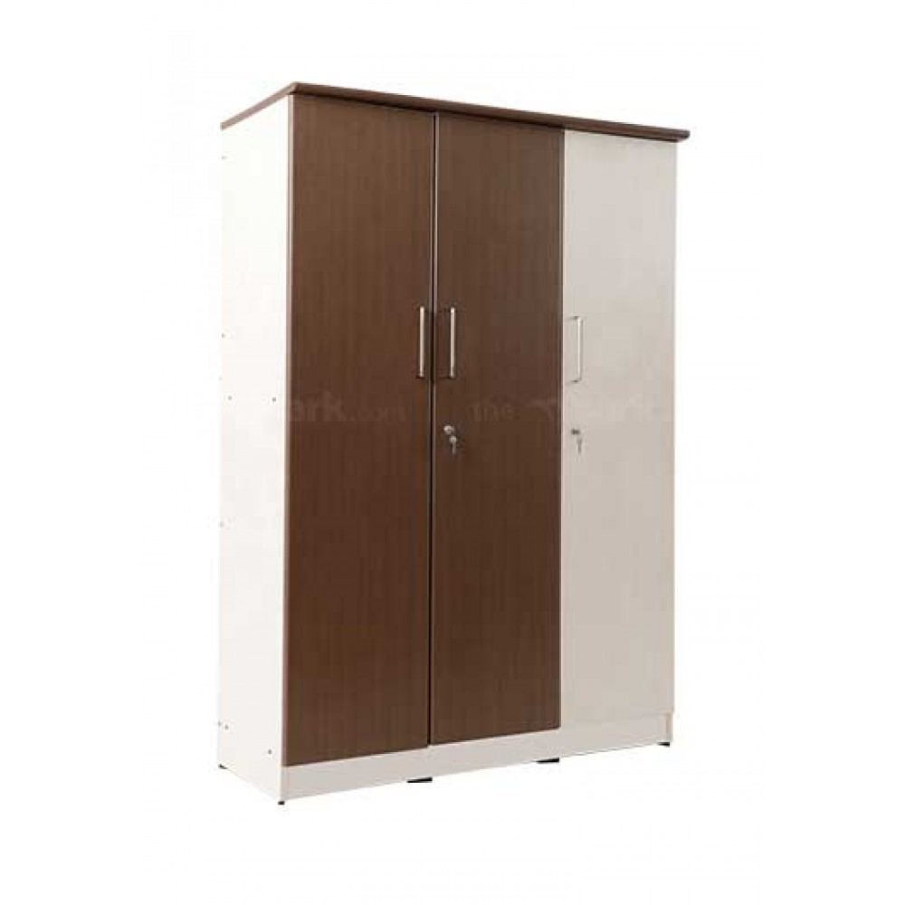 Double Colour Wooden Three Door Wardrobe