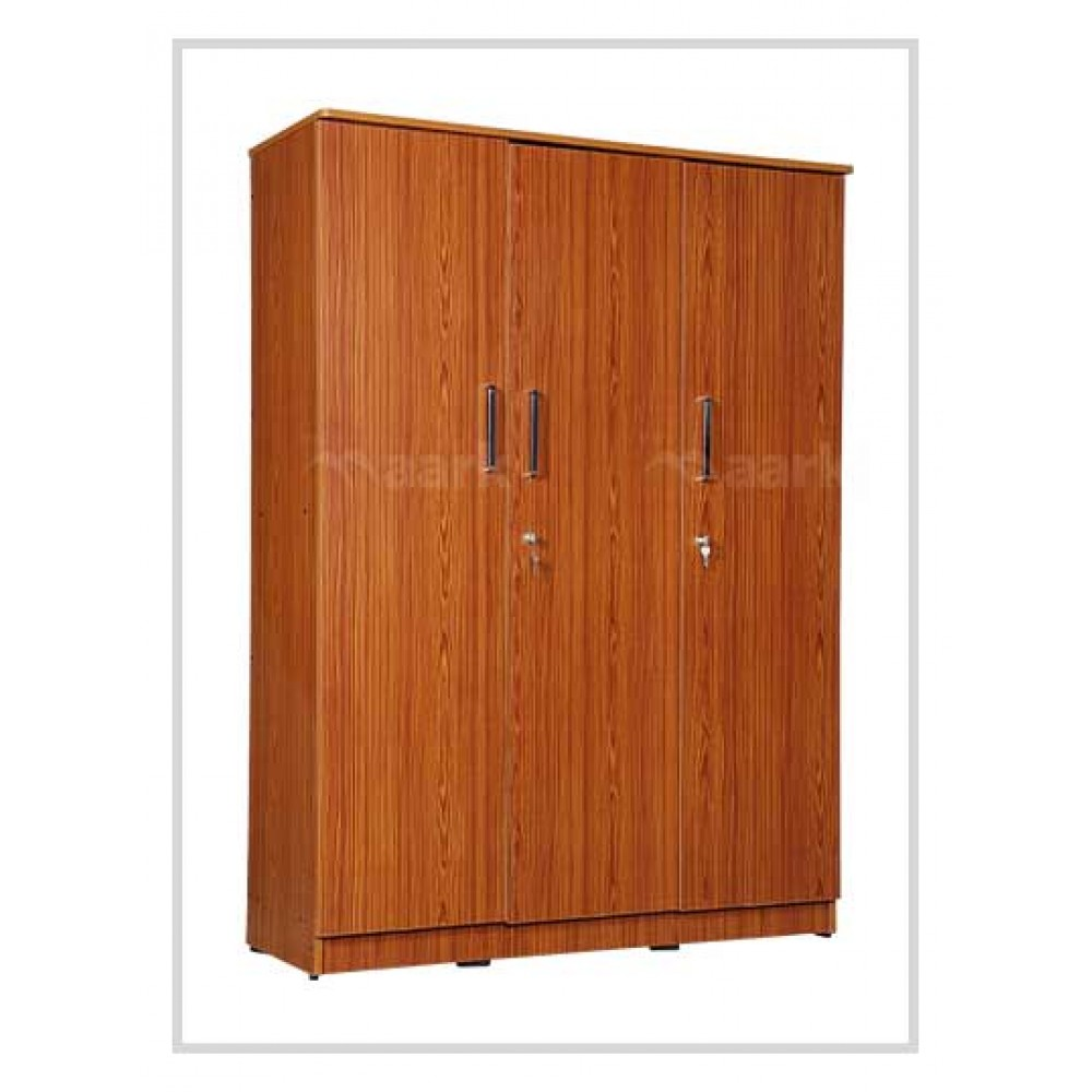 Akron 3 DR Plain Edge Wooden Wardrobe