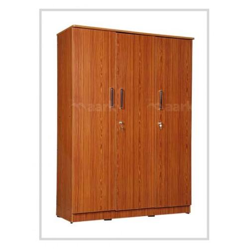 Akron 3 DR Plain Edge Wooden Wardrobe