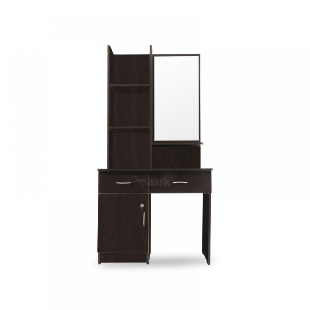 Black Wooden with Glass Dresser