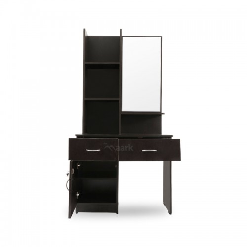 Black Wooden with Glass Dresser