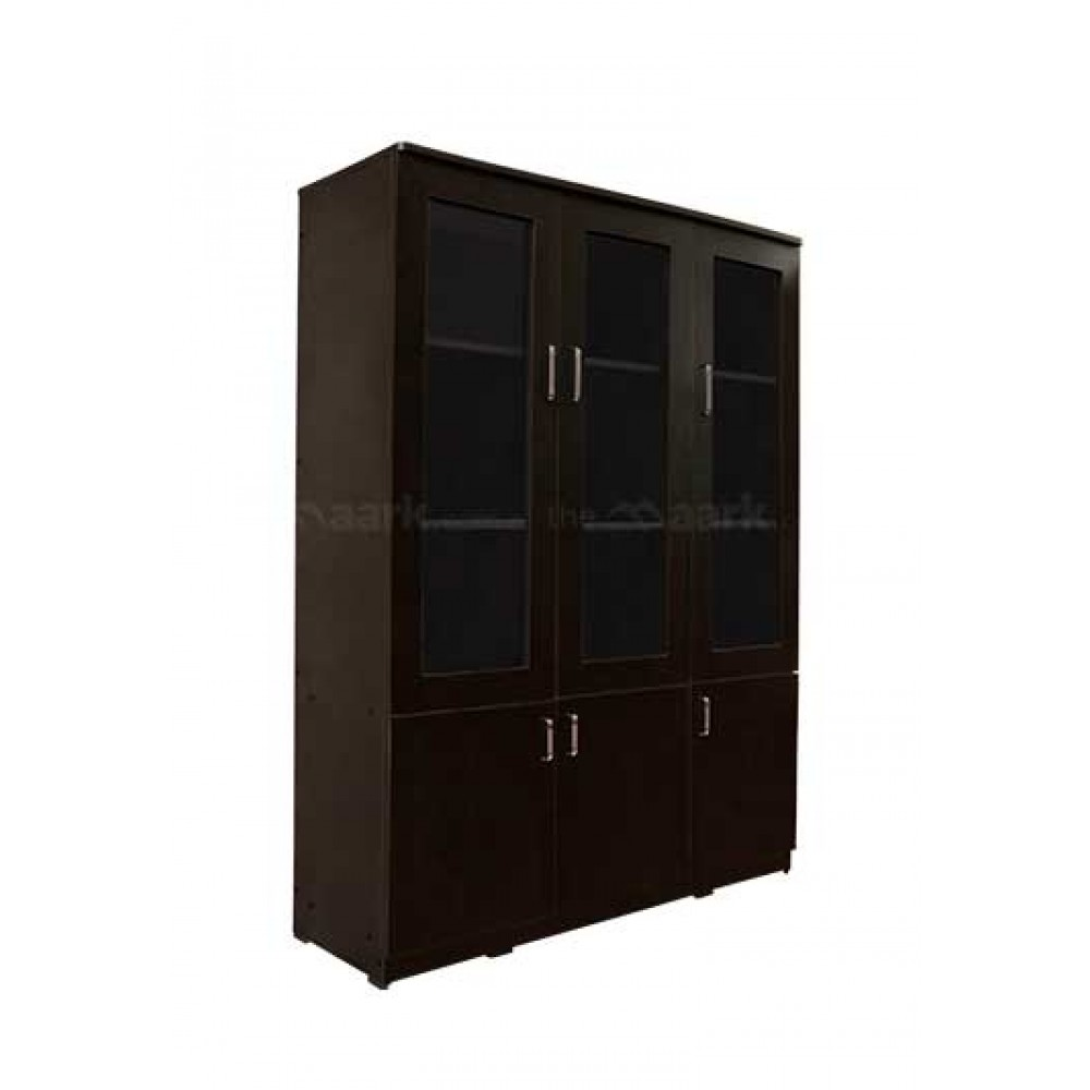 Black Berry Triple Door Bookshelves