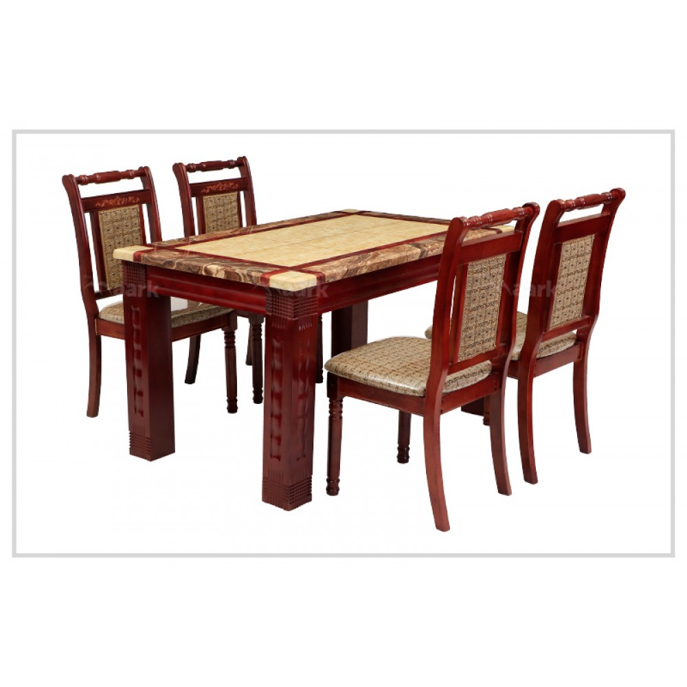 Cambrey Four Seater Dining Table in Brown Color