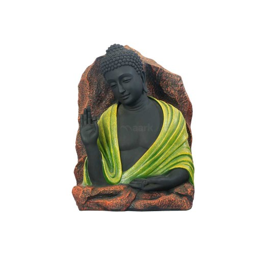 BUDHA STATUE-BLACK WITH GREEN