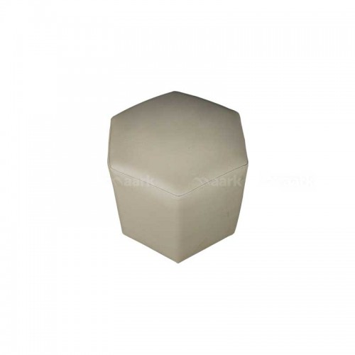 Diamond Puffy Stool in Sandal Color