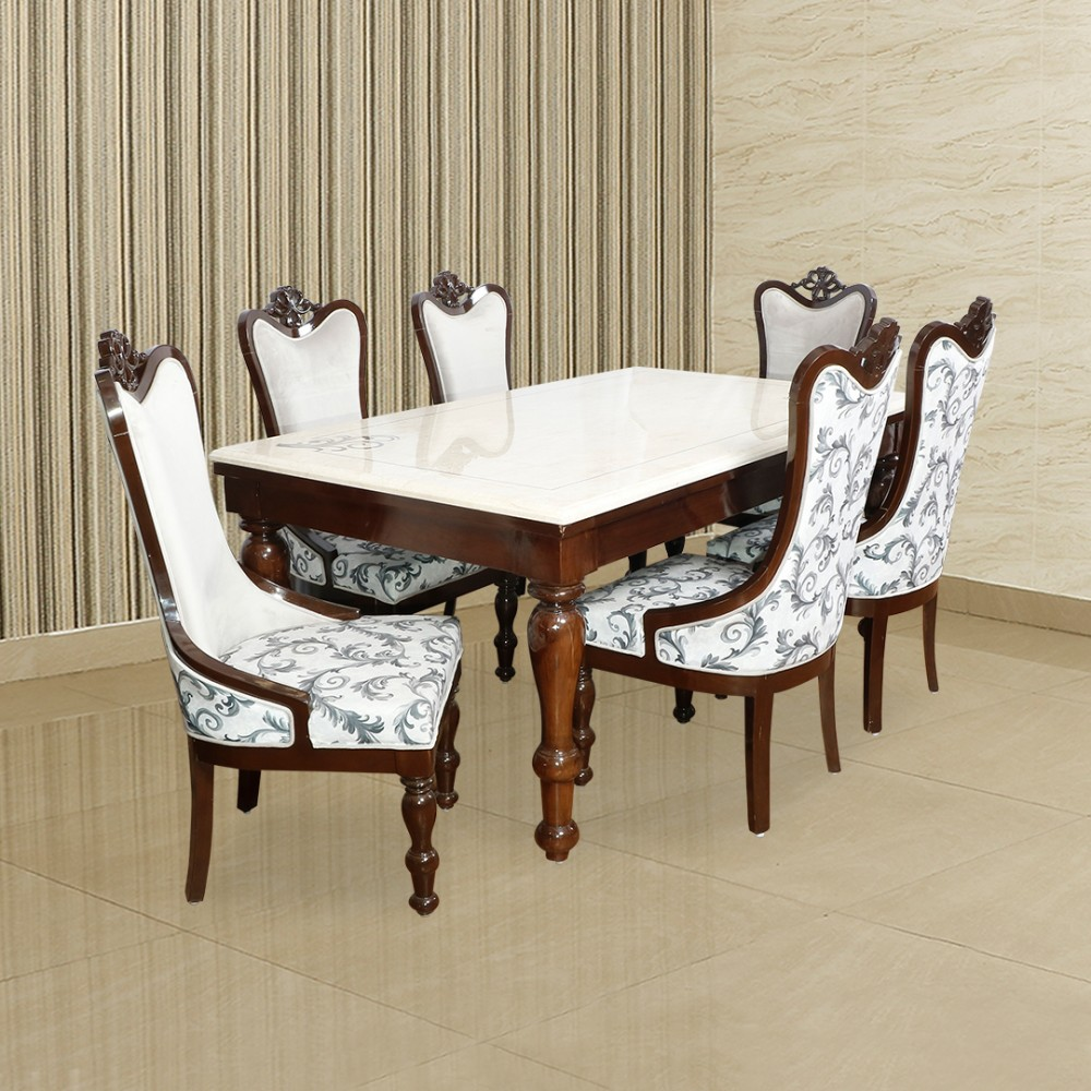 DL MARBLE DINING 1+6