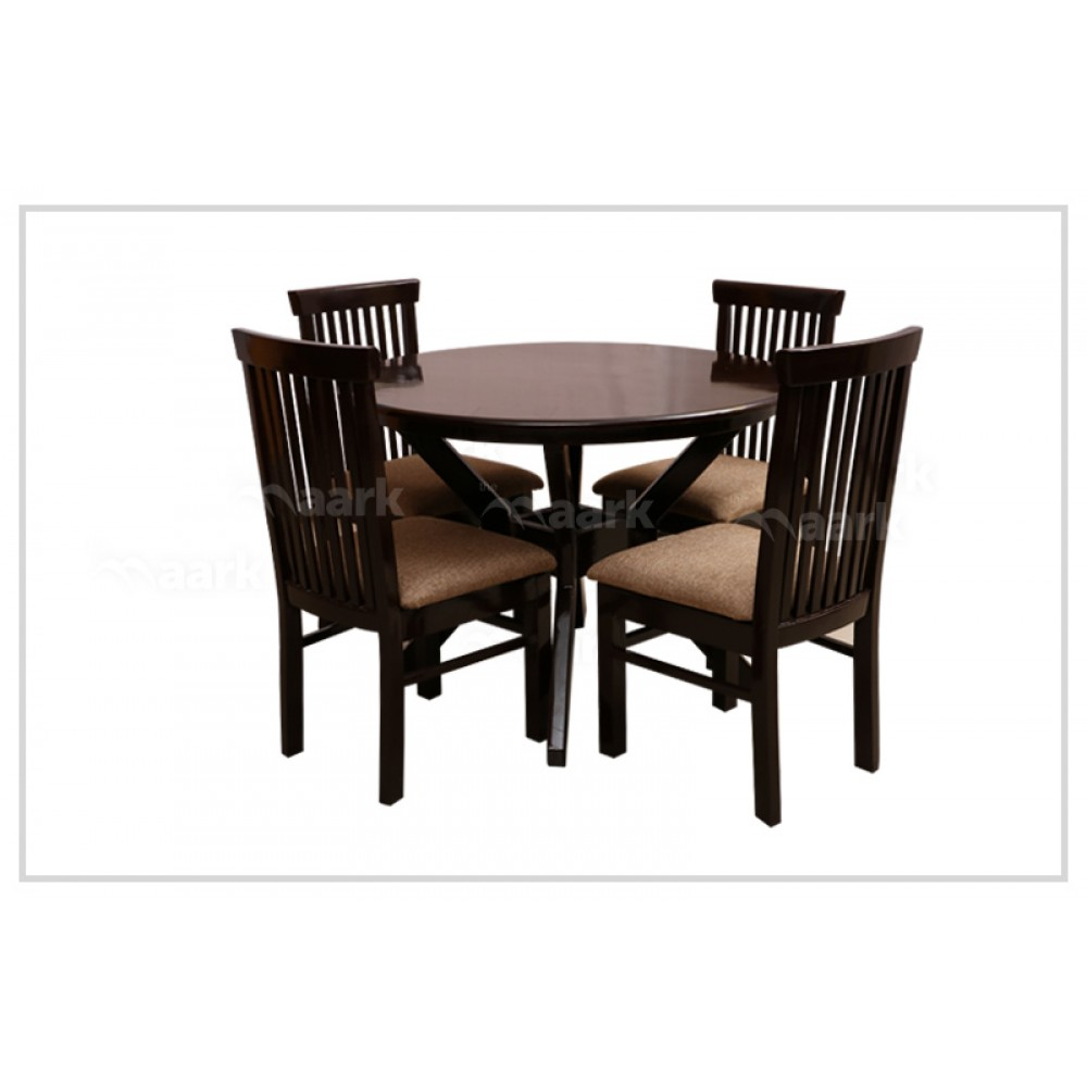 Four Seater Wooden Round Dining Table