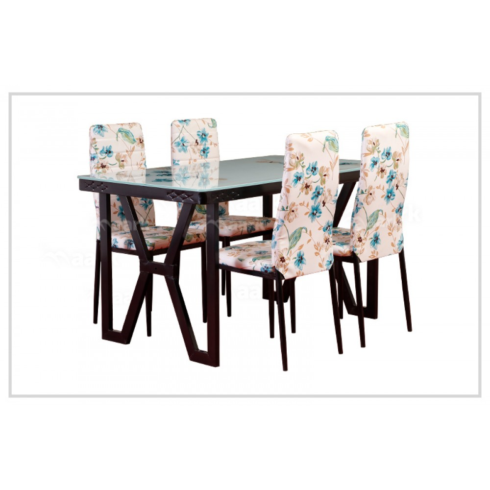 NS C86-A48 FANCY GLASS DINNING TABLE