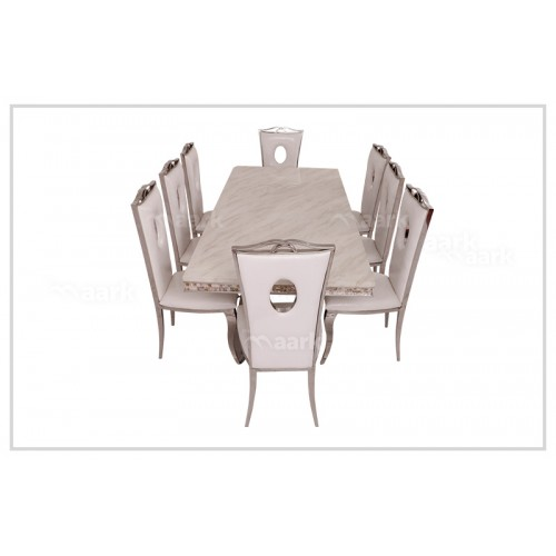 Wooden Grace Marble Dining Table