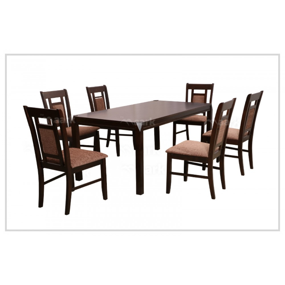 Wooden Six Seater Dining Table Set