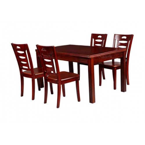 WOODEN DINING FOUR SEATER IN MAROON COLOR