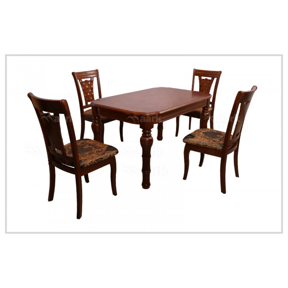HT Four Seater Wooden Dining Table