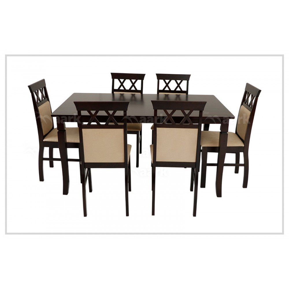Coralla Wooden Six Seater Dining Table