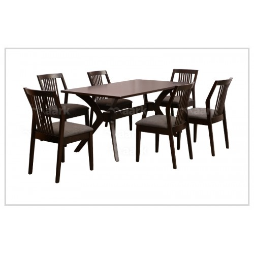 Met Six Seater Wooden Dining Table