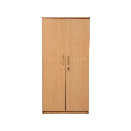 Emilia Wooden Two Door Wardrobe in Peach Color