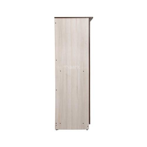 Flower Designed Three Door Wooden Wardrobe