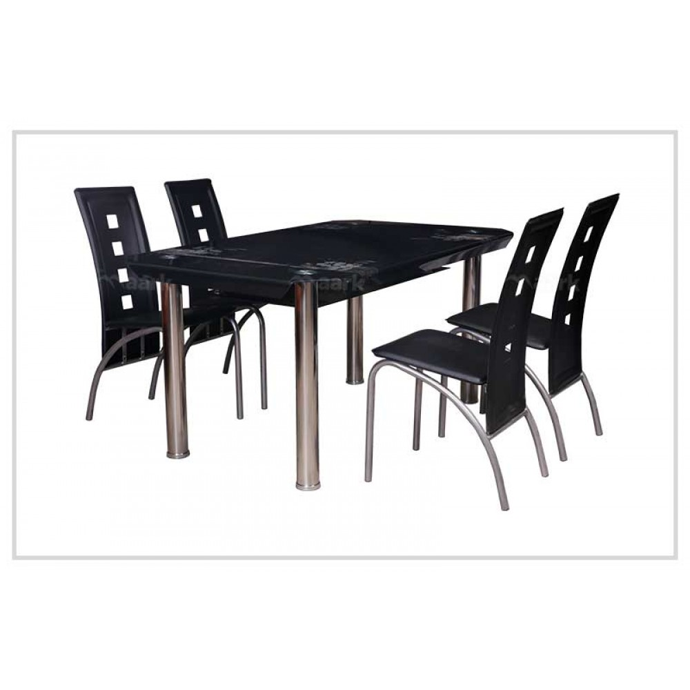 Glass Dining Table in Black Color