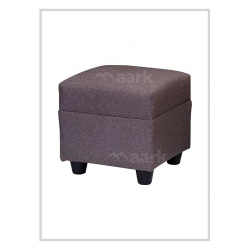 Grey Puffy Stool