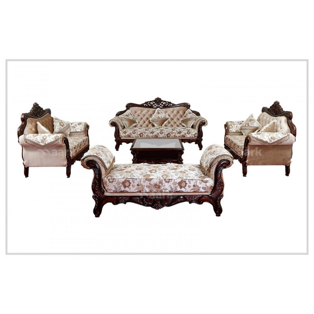Lava Teak Wood Royal Sofa