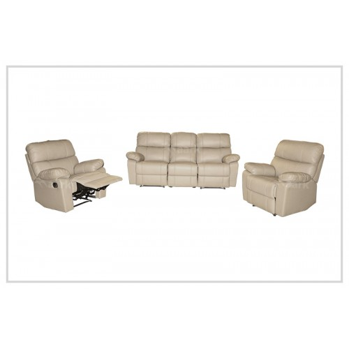 leatherette Manual Recliner Sofa