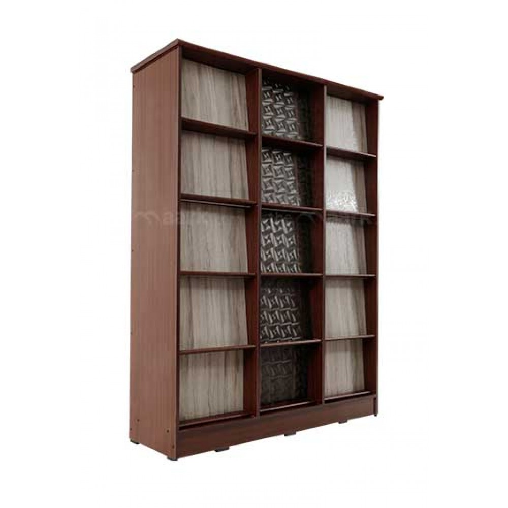 Library Bookshelf brown color