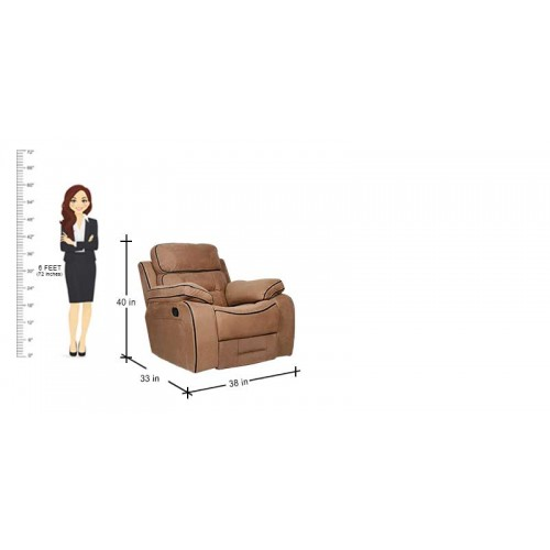 Manual Recliner Sofa in Brown Color