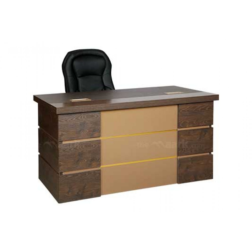 MAVI OFFICE TABLE IN SANDAL AND BROWN COLOR