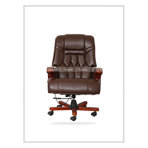 REVOLVING CHAIR BROWN COLOR