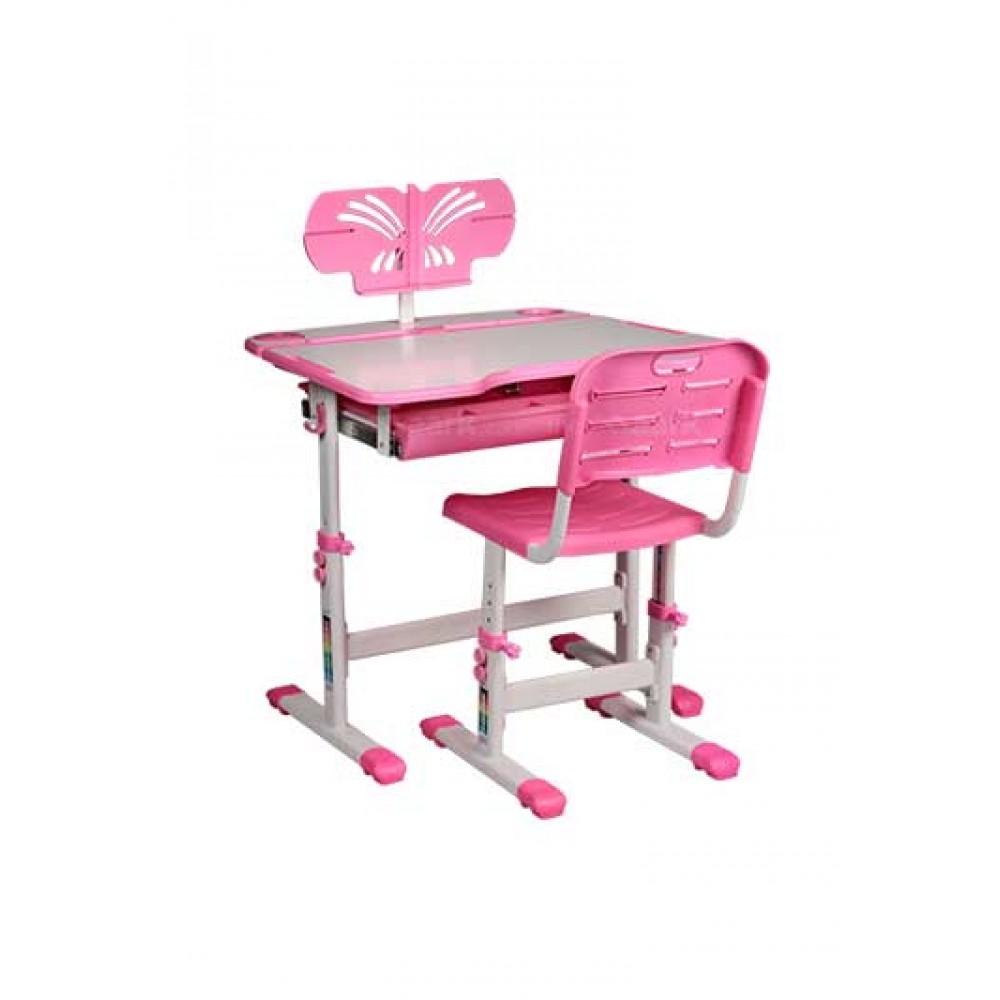 MECOR KIDS DESK AND CHAIR SET PINK COLOR