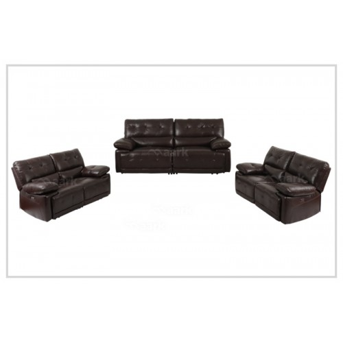 Mendoza Motorized Leather Recliner Sofa 3+2+2