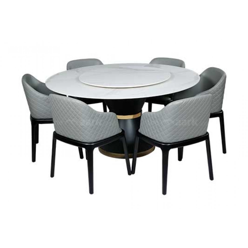 Modern Round Marble Dining Table  Dining Six Seated   Buy Dining ...