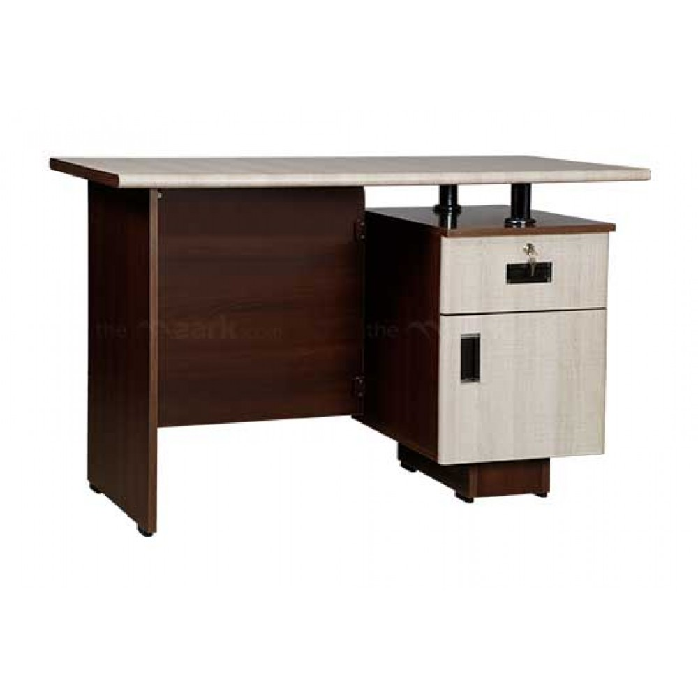 OFFICE TABLE IN WHITE ACACIA AND MAHOGANY COLOR