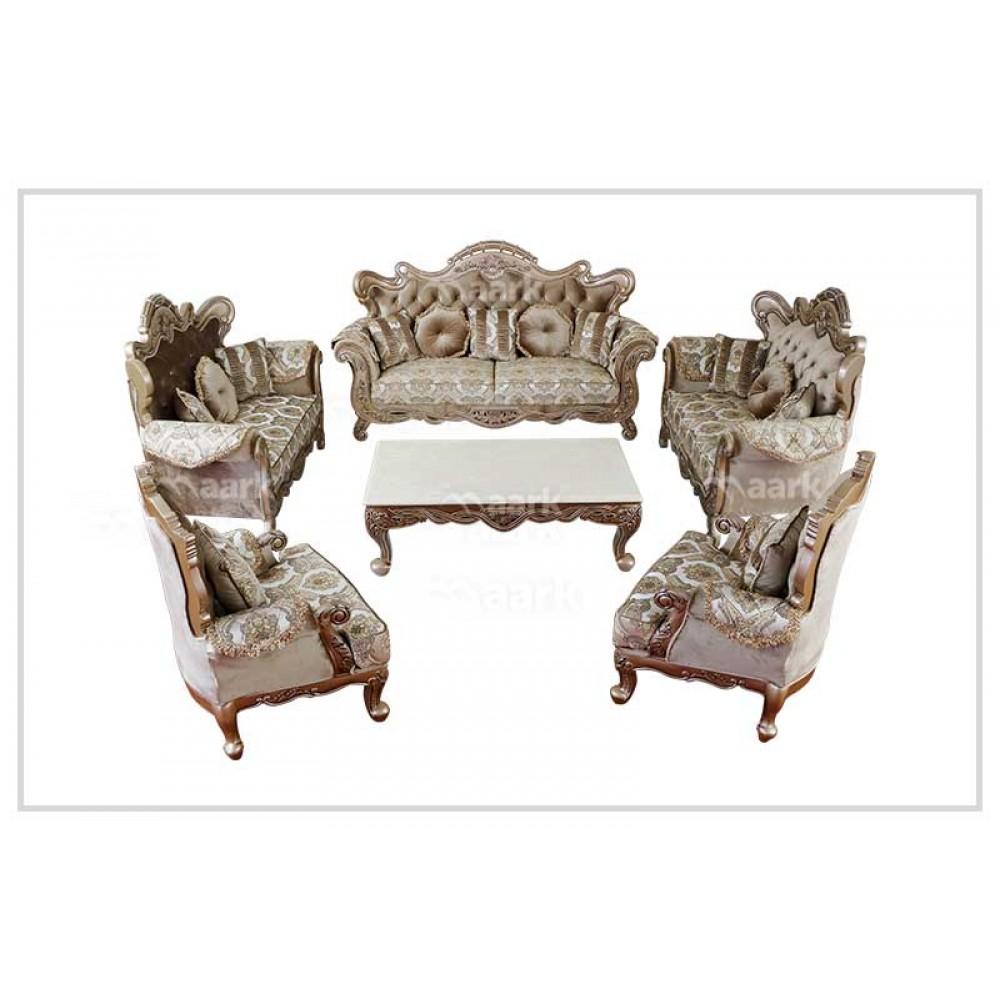Pantan Teak Wood Sofa 3+2+2+1+1+CT