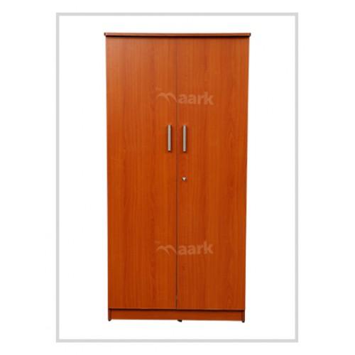 Plain Cherry Color Wooden Two Door Wardrobe
