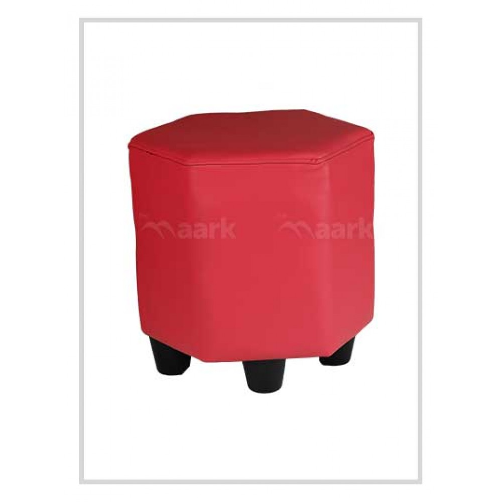 Puffy Stool in Red Color