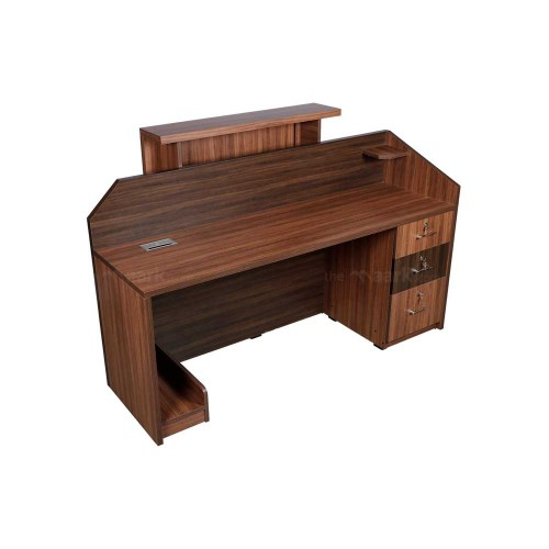 RECPTION TABLE IN SANDAL AND BROWN COLOR