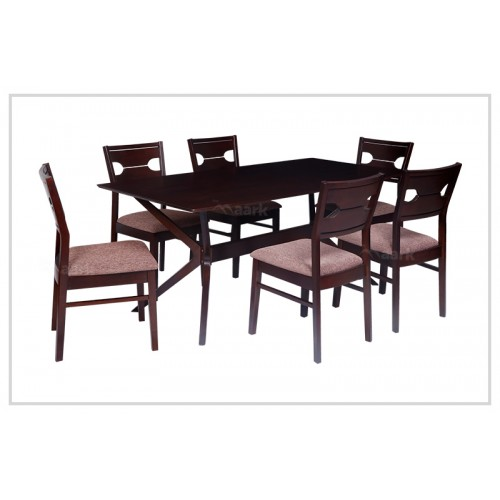 Royce Keleona Six Seater Wooden Dining Table
