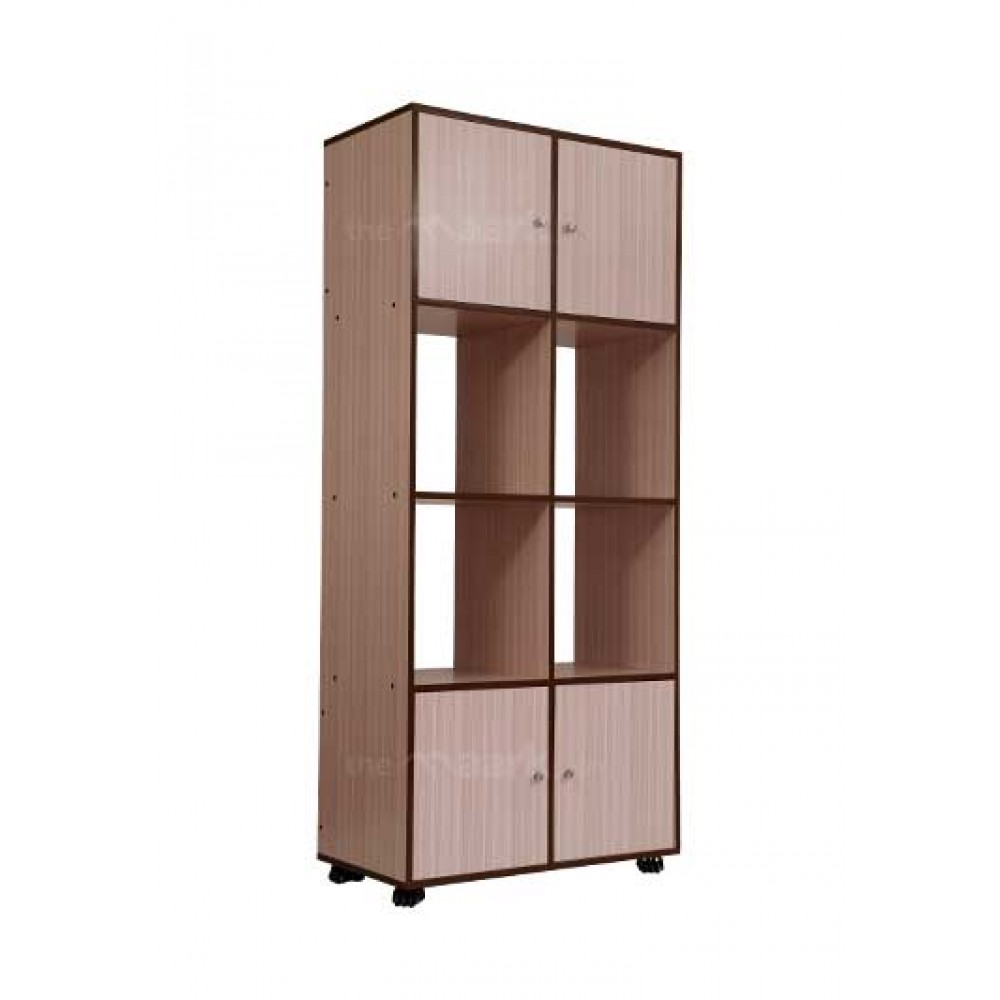 Sarva Wooden Bookshelf Sandal Color