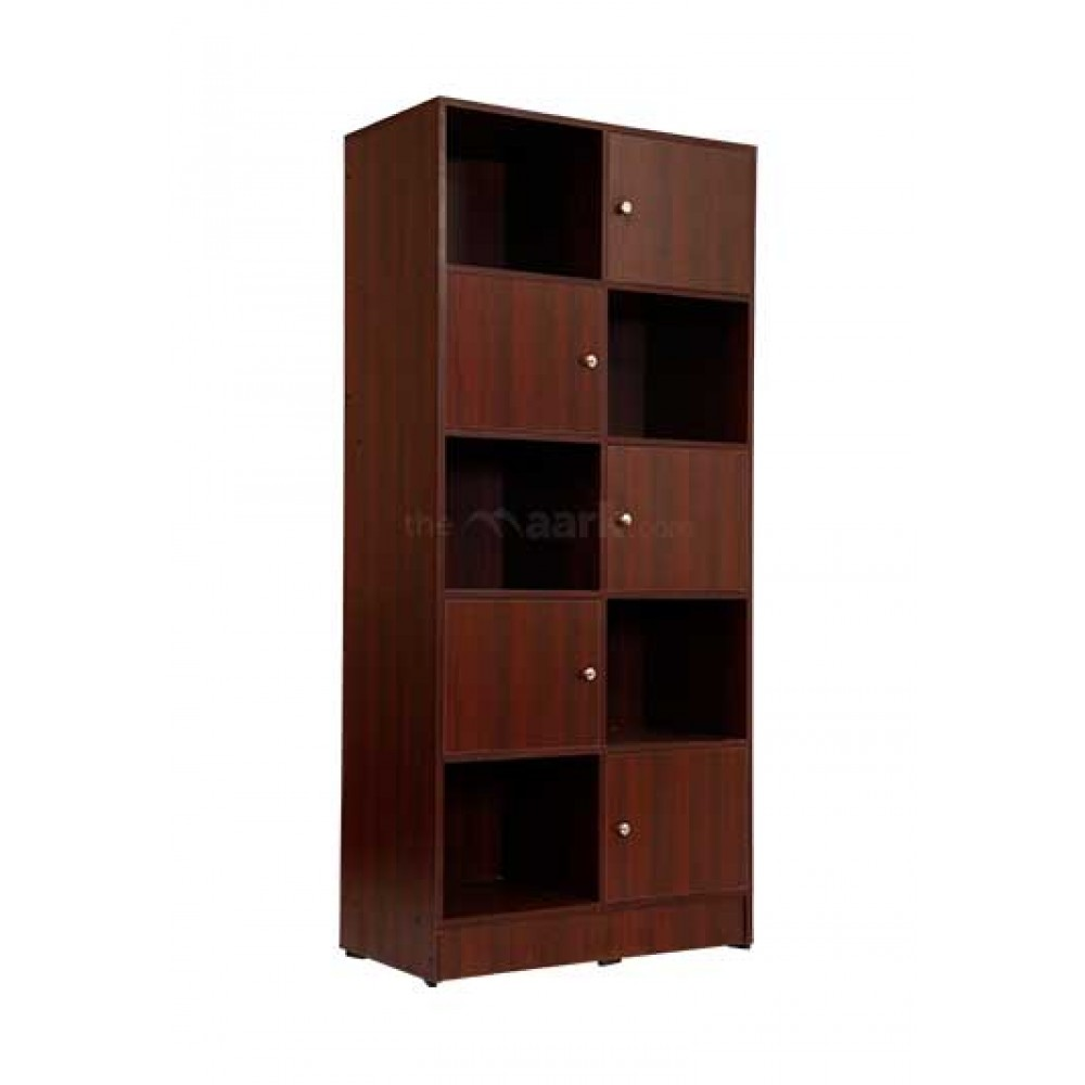 Sarvothiaya Wooden Bookshelf Maroon Color