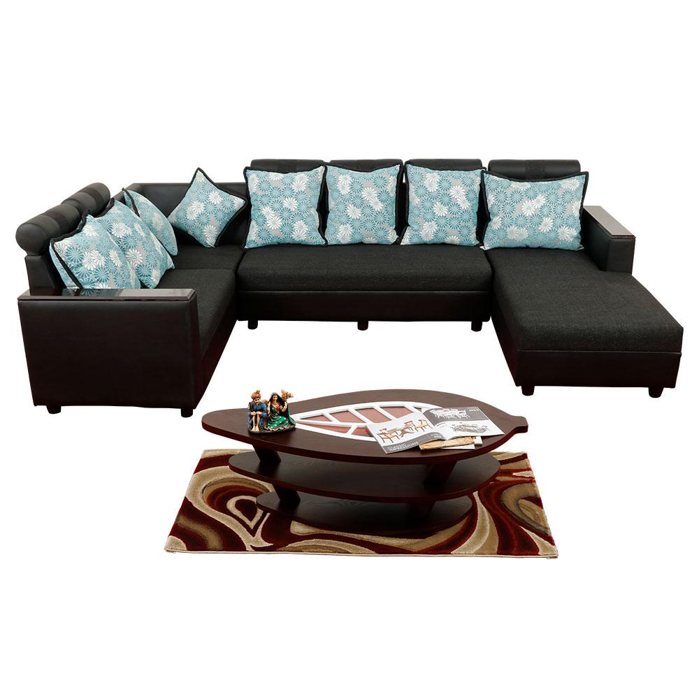 Magameru Fabric Corner Sofa with Divan
