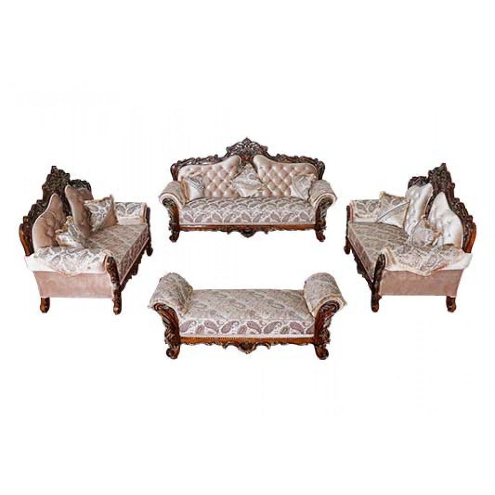 Luxury wooden sofa set online at best price