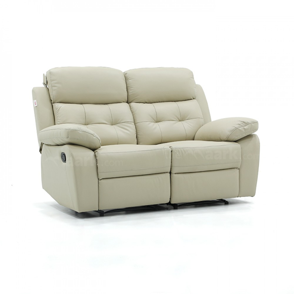 Leather Recliner Sofa 1157 Two Seater cream Color