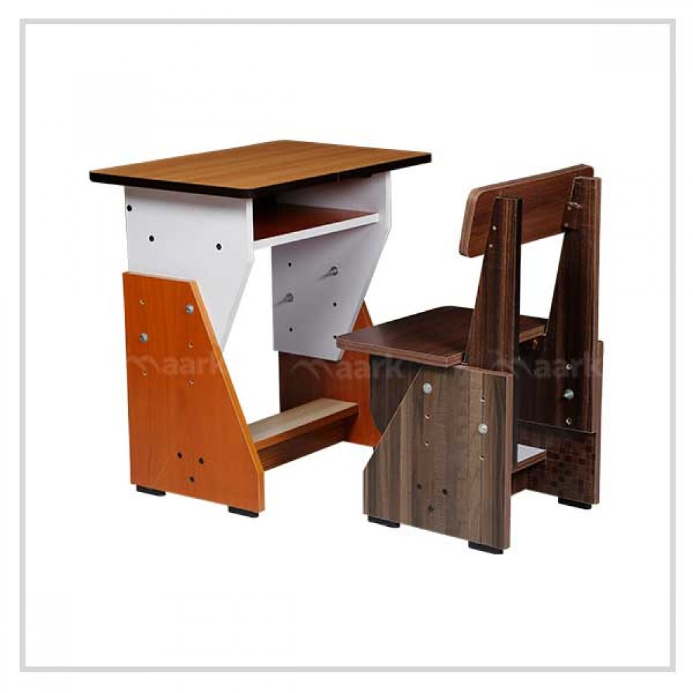 Wooden Kids Study Table in Double Shade