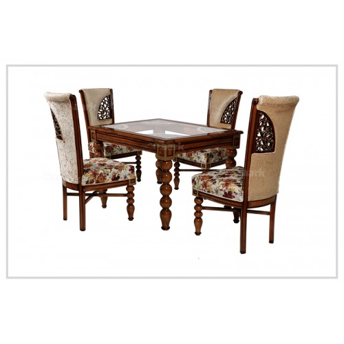 Teak Wood Flower Dining Table