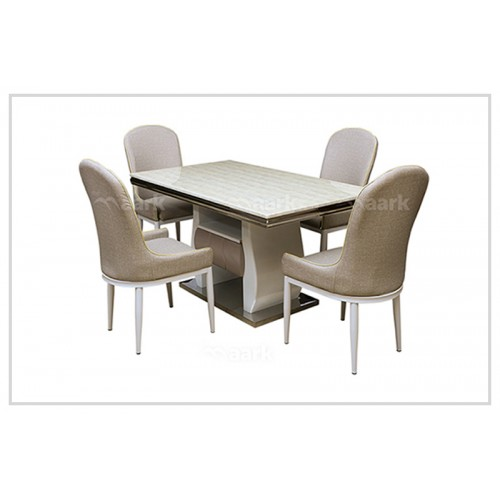 White Four Seater Dining Table