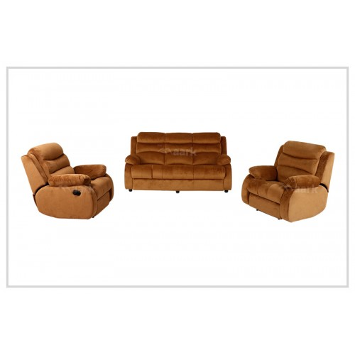 William Recliner Fabric Sofa